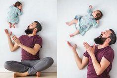 Aqui no blog vocês já conferiram vários ensaios incríveis com recém-nascidos. Mas o que vou mostrar hoje é ainda mais divertido: as fotos foram criadassem