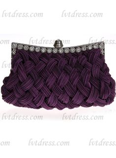 Hot Sale Weave Clutches With Rhinestones