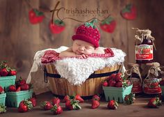If this baby is a girl I may just have to steal this idea. I have craved fruit this pregnancy, but strawberries most of all!!