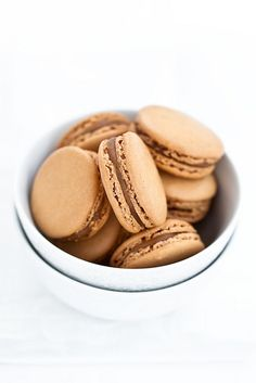 Salted butter caramel macarons