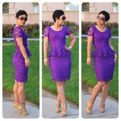 Fashion, Lifestyle, and DIY: #DIY Lace Peplum Dress + Pattern & Fabric Giveaway + Review!