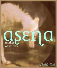 Baby Girl Name: Asena. Meaning: Mother of Wolves. http://www.pinterest.com/vintagedaydream/baby-names/