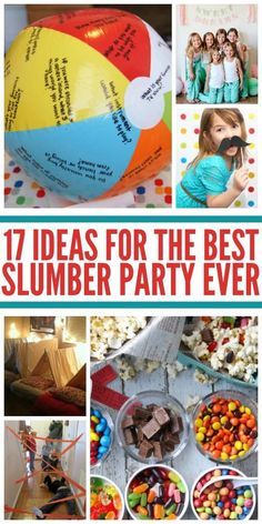 Some of the greatest memories are created at sleepovers and slumber parties. Check out these great suggestions for DIY crafts parties, and games that will have your child looking back at this party for years to come. ideas for 13 year olds Sleepover Birthday Parties, Fun Sleepover Ideas, Slumber Party Games, Pajama Party Games, Slumber Party Crafts, Birthday Games, Sleep Over Party Ideas, Birthday Sleepover Ideas, Party Games For Tweens