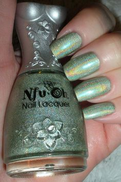 Nfu Oh Holographic Nail Polish #66 For St. Patrick's day or with red for Christmas!!!