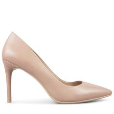 The Haldwin is a classically feminine pump, perfect for corporate dressing or a chic evening out.   9cm / 3.5 Inch Stiletto Heel New Flesh Leather Wrapped Heel Pointed Closed Toe New Flesh Leather Upper Leather Lining Single Layer Cushioned Footbed