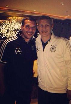 Lukas Podolski and Bastian Schweinsteiger.