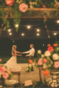 My husband and I went off in the middle of our wedding and danced under the gazebo from our ceremony. It is our favorite memory from our wedding. My advice to future brides: fine that time (even if it is just for a few minutes) to be alone with your groom Wedding Engagement, Our Wedding, Dream Wedding, Wedding Reception, Wedding Backyard, Wedding Night, Wedding Dress, First Dance, Here Comes The Bride