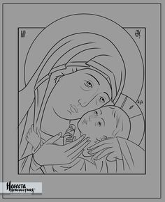 Mary and Child, Our Lady of Korsun, Russian icon Byzantine Icons, Byzantine Art, Religious Symbols, Religious Art, Coloring Books, Coloring Pages, Medieval Tapestry, Religious Paintings, Spirited Art
