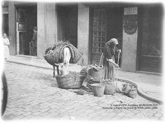 Historia Urbana de Madrid: Fototeca: El burro de la trapera. Madrid, hacia 1920