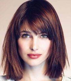 20 medium length haircuts with bangs. Best and unique medium length haircuts with bangs. Sassy and gorgeous medium length haircuts. Long Bob With Bangs, Medium Length Hair Straight, Bangs With Medium Hair, Medium Hair Cuts, Medium Hair Styles, Short Hair Styles, Straight Bob, Shoulder Length Hair Cuts With Bangs, Medium Hairstyles With Bangs