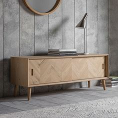 Houseology Collection Delano Media Unit Natural European Oak