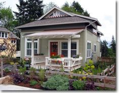 10 Gorgeous 'Granny Pods' To Keep Aging Family Members Close - Gorgeous Granny Cottage -Edgemoor Cottage ~ Great pin! For Oahu architectural design visit ownerbui - Tiny House Living, Cottage Living, Cottage Homes, Two Bedroom Tiny House, Oahu, Cottage Floor Plans, Small House Plans, Guest Cottage Plans, Small House Design