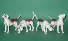 Beswick Set of Foxhounds 2nd Version
