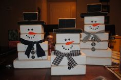 Image detail for -just love my snowman set! So fun for winter/christmas decor.