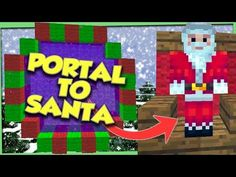 Find out how to make a portal to Santa Claus in this Minecraft tutorial video. It's Christmas time again and Santa Claus knows if you've been bad or good, so let's . Free Minecraft Account, Minecraft Portal, Minecraft Seed, Minecraft Videos, Minecraft Projects, Minecraft Furniture, Minecraft Houses, Minecraft Stuff, Cool Minecraft Banners