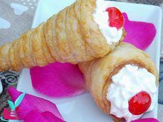 ΦΑΝΤΑΣΤΙΚΑ ΚΟΡΝΕΔΑΚΙΑ - Νόστιμες συνταγές της Γωγώς! Doughnut, Dairy, Cheese, Desserts, Recipes, Food, Cakes, Tailgate Desserts, Deserts