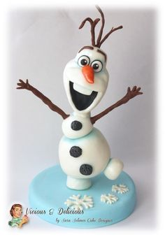 Olaf cake topper - Cake by Vicious & Delicious by Sara Solimes
