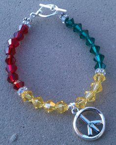 Rasta Man swarovski charm bracelet