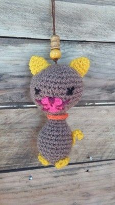 cat keyring, keychain Animaux et porte clés keychain - AmiguruMINE ! Mes Amigurumis crochet