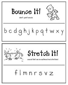 Hello Literacy: Bounce & Stretch Sound Posters
