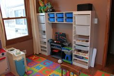 21 Fascinating Playroom Storage System Photograph Ideas