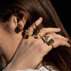 Black Independent Designers African American Clothing, American Apparel, Bangles, Bracelets, Gemstone Rings, Rings For Men, Gemstones, Gold, Black