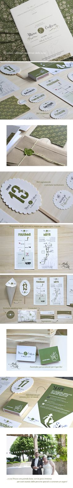 Vintage Wedding green 1950 wedding inspiration stationery favor suite you can find it at www.makeacake.it
