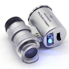 Superb maveek Mini x LED UV Licht Pocket Mikroskop Lupe Lupe Eye Juwelier W