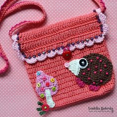 Crochet pattern  Little hedgehog purse by VendulkaM  Digital