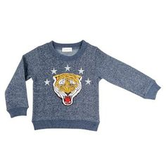 Tiger sweater in fleece cotton