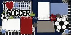 I Love Soccer Scrapbook Page Kit