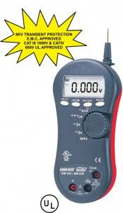 KM 655 -KM 656- DIGITAL MULTIMETER WITH NON-CONTACT EF-DETECTION • Fully Auto-Ranging • Max / Min Recording Mode • Low Battery Indication • Non-Contact EF-Detection (NCV) • Probe-Contact EF-Detection for more precise Indication of live. • Line level Frequency 40Hz to 60KHz • Fast Measurements, 5/Sec • Intelligent Auto Power Off & Data HOLD
