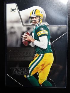 2015 Panini Rookies And Stars #RSR17 Aaron Rodgers Packers Die Cut Card #GreenBayPackers