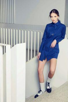 Andra Andreescu Blue navy shirt