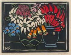 Prints & Graphics - Margaret Rose (MacPherson) Preston - Page 3 - Australian Art Auction Records Margaret Rose, Margaret Preston, Australian Wildflowers, Australian Native Flowers, Australian Painters, Australian Artists, Aboriginal Art, Woodblock Print, Art Auction