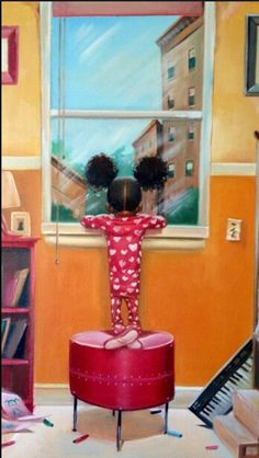 .Too Cute-Reminds me my daughter Krishna when she was a toddler-she would wait in the window for hours seemed like for her daddy to come home.
