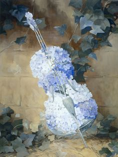 Beautiful flowered cello