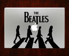 The Beatles Band Abbey Road Walk Mac Decal Stickers For Macbook 13 Pro Air Decal #RusticDecal