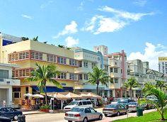 South Beach Art Deco National Historic District in Miami Beach, FL