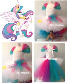 Princess Celestia My Little Pony Inspired Tutu Dress Dressing Up Costume | eBay