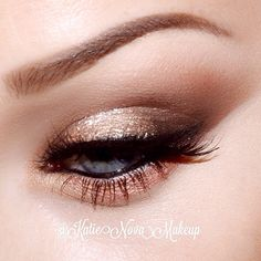 brow wiz in medium ash, pro base pencil # 1 as a lid base, soft brown as a transition  embark in inner and outer corner, kitten eyeshadow in the center of the lid, mac smolder in water line ~ Eye Makeup Tutorial