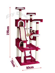 Brand New Giant Cat Tree Scratch Post Scratching Pole Tower Gym Toy * in Pet Supplies, Cats, Toys Cat Climber, Cat Gym, Cat Tree House, Diy Cat Toys, Cat Activity, Cat Towers, Cat Playground, Cat Scratching Post, Cat Condo