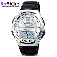 Casio Men's Analogue/Digital Quartz Watch with Resin Strap Casio Quartz, Casio G Shock, Watches, Casio Watch, Quartz Watch, Chronograph, Bracelets, The Originals, Resin