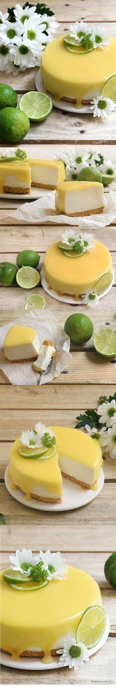 Cheesecake de lima - http://bakingwithco.blogspot.com.es