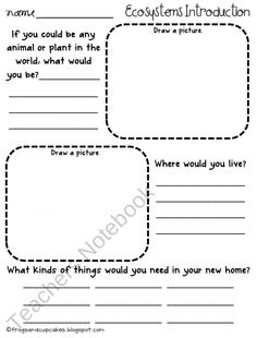 Printables Ecosystem Worksheets taiga ecosystem names forests and the ojays