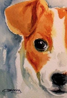 Ive been asked on more than one occasion to paint more dogs...here is my favorite - the fun-lovin Jack Russell Terrier.    Take him home, get to