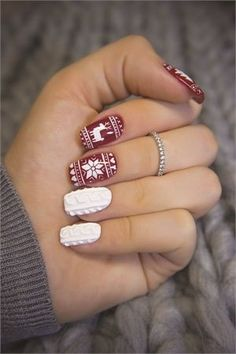 Sweater Weather #Nail Art - Style - NAILS Magazine