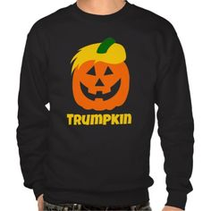 Funny Donald Trumpkin Pumpkin Halloween Sweatshirt - Make Halloween Great Again
