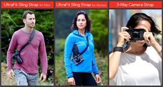 Introducing the UltraFit Sling Strap for Men, UltraFit Sling Strap for Women and 3-Way Camera Strap