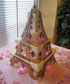 eiffel tower cake  by Da Bombe Cake Company, via Flickr